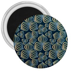 Gradient Flowers Abstract Background 3  Magnets