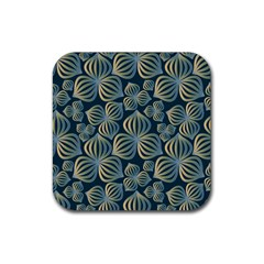 Gradient Flowers Abstract Background Rubber Coaster (Square)