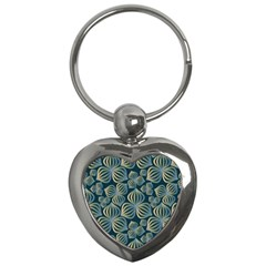 Gradient Flowers Abstract Background Key Chains (Heart)