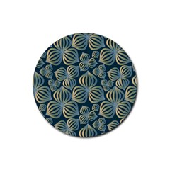 Gradient Flowers Abstract Background Rubber Round Coaster (4 pack)