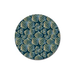 Gradient Flowers Abstract Background Magnet 3  (round)