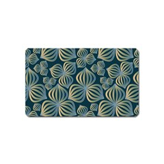 Gradient Flowers Abstract Background Magnet (name Card)