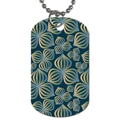 Gradient Flowers Abstract Background Dog Tag (one Side)