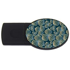 Gradient Flowers Abstract Background Usb Flash Drive Oval (2 Gb)