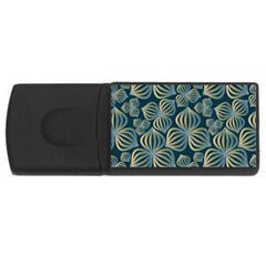 Gradient Flowers Abstract Background USB Flash Drive Rectangular (2 GB)