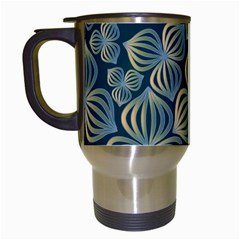 Gradient Flowers Abstract Background Travel Mugs (white)