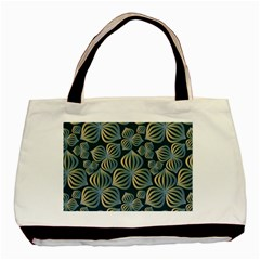 Gradient Flowers Abstract Background Basic Tote Bag