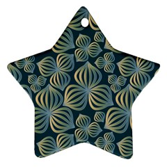 Gradient Flowers Abstract Background Star Ornament (two Sides)