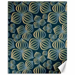 Gradient Flowers Abstract Background Canvas 16  X 20