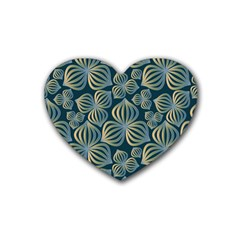 Gradient Flowers Abstract Background Heart Coaster (4 pack)