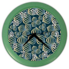 Gradient Flowers Abstract Background Color Wall Clocks