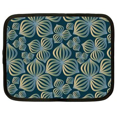 Gradient Flowers Abstract Background Netbook Case (large)