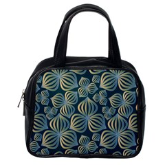 Gradient Flowers Abstract Background Classic Handbags (One Side)