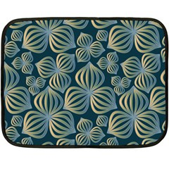 Gradient Flowers Abstract Background Double Sided Fleece Blanket (mini)