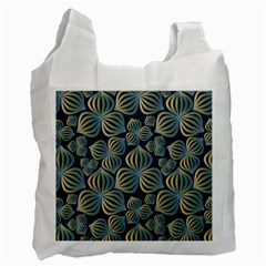 Gradient Flowers Abstract Background Recycle Bag (two Side)