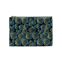 Gradient Flowers Abstract Background Cosmetic Bag (Medium)