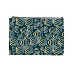 Gradient Flowers Abstract Background Cosmetic Bag (Large)