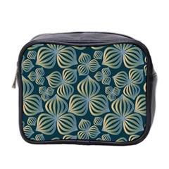 Gradient Flowers Abstract Background Mini Toiletries Bag 2-Side