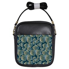 Gradient Flowers Abstract Background Girls Sling Bags