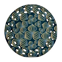 Gradient Flowers Abstract Background Ornament (round Filigree)