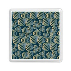 Gradient Flowers Abstract Background Memory Card Reader (square)