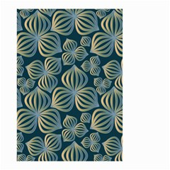 Gradient Flowers Abstract Background Small Garden Flag (Two Sides)