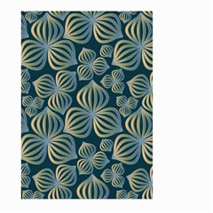 Gradient Flowers Abstract Background Large Garden Flag (two Sides)