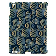 Gradient Flowers Abstract Background Apple iPad 3/4 Hardshell Case (Compatible with Smart Cover)