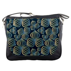 Gradient Flowers Abstract Background Messenger Bags