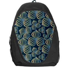 Gradient Flowers Abstract Background Backpack Bag