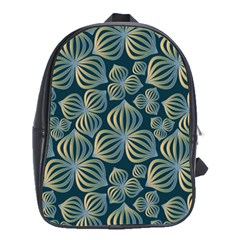 Gradient Flowers Abstract Background School Bags (xl)