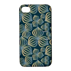Gradient Flowers Abstract Background Apple iPhone 4/4S Hardshell Case with Stand