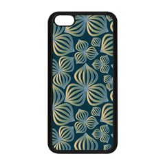 Gradient Flowers Abstract Background Apple iPhone 5C Seamless Case (Black)