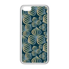 Gradient Flowers Abstract Background Apple iPhone 5C Seamless Case (White)