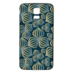 Gradient Flowers Abstract Background Samsung Galaxy S5 Back Case (white)