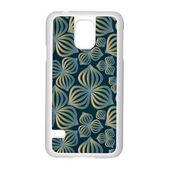 Gradient Flowers Abstract Background Samsung Galaxy S5 Case (White)