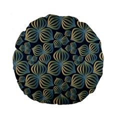 Gradient Flowers Abstract Background Standard 15  Premium Flano Round Cushions