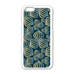 Gradient Flowers Abstract Background Apple iPhone 6/6S White Enamel Case