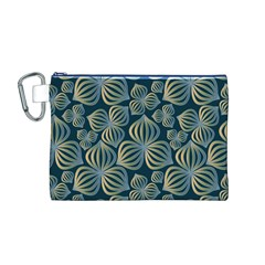 Gradient Flowers Abstract Background Canvas Cosmetic Bag (m)