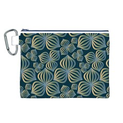 Gradient Flowers Abstract Background Canvas Cosmetic Bag (l)
