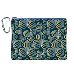 Gradient Flowers Abstract Background Canvas Cosmetic Bag (xl)