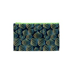 Gradient Flowers Abstract Background Cosmetic Bag (xs)