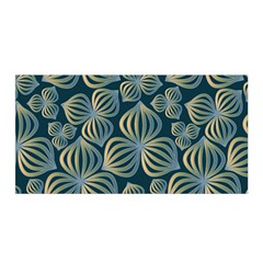 Gradient Flowers Abstract Background Satin Wrap