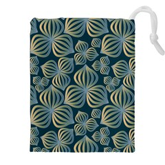 Gradient Flowers Abstract Background Drawstring Pouches (xxl)