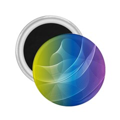 Colorful Guilloche Spiral Pattern Background 2.25  Magnets