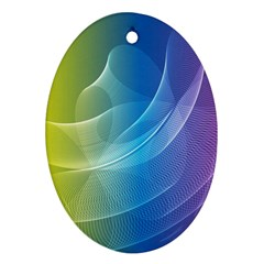 Colorful Guilloche Spiral Pattern Background Ornament (oval)