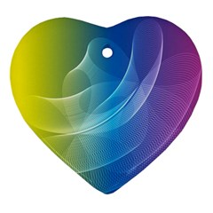 Colorful Guilloche Spiral Pattern Background Ornament (heart)