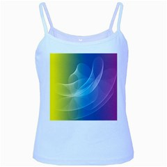 Colorful Guilloche Spiral Pattern Background Baby Blue Spaghetti Tank