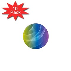 Colorful Guilloche Spiral Pattern Background 1  Mini Magnet (10 Pack)