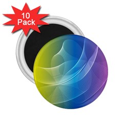Colorful Guilloche Spiral Pattern Background 2.25  Magnets (10 pack)